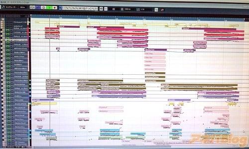「鳥の詩-Orchestra Arrange-」の制作画面。7分半を超えるインスト曲は初めてかもしれない。